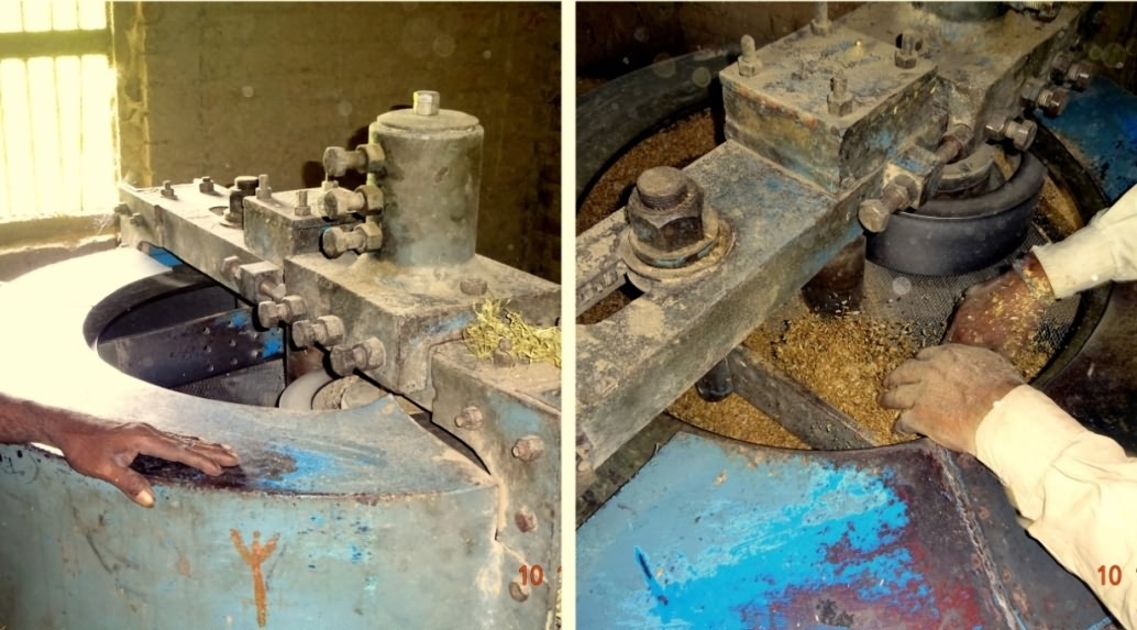 Edge runner machine used for poha making